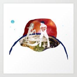 Parallelism, Earth scene Art Print