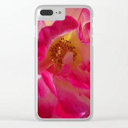 A Rosy Glow - Double Delight Rose Clear iPhone Case