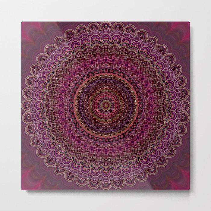 Dark purple mandala Metal Print