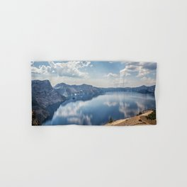 Crater Lake with a view of the Phantom Ship Hand & Bath Towel