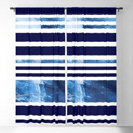 Indigo Modern Stripes Blackout Curtain