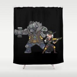 ashe and bob Shower Curtain