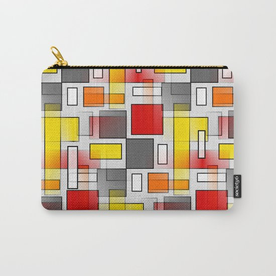 Abstract Layers Carry-All Pouch