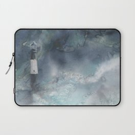 Night Storm at Tybee Lighthouse Laptop Sleeve
