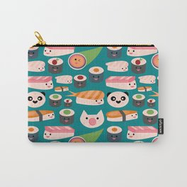 Kawaii sushi teal Carry-All Pouch