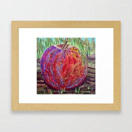 Otherworldly Apple Collage Framed Art Print