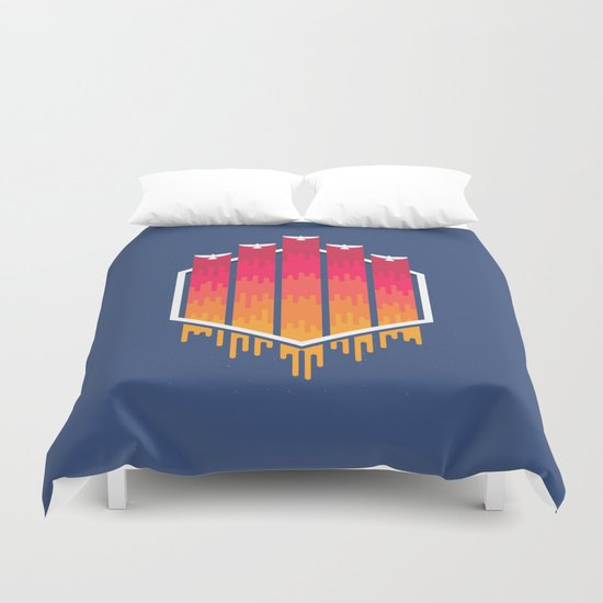 The Color Of The Night Duvet Cover
