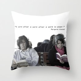 """A word after a word after a word is power.""   Throw Pillow"