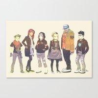 teen titans Canvas Prints featuring Teen Titans Streetwear by L. Tharp