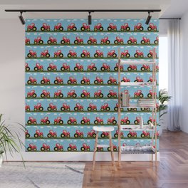 Toy tractor pattern Wall Mural