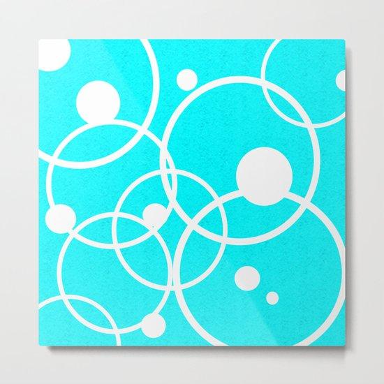 Circles on Blue Metal Print