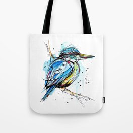 Bold Kingfisher  Tote Bag