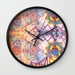 Hindu Geo Psych Wall Clock