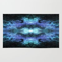 matrix Area & Throw Rugs featuring Cosmic Matrix by WES EXOTIC IMAGERY