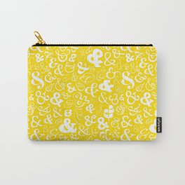 Ampersands - Yellow Carry-All Pouch
