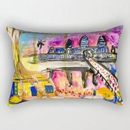 Angkor Wat and Ta Prohm in Cambodia Rectangular Pillow