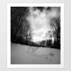 snowy hill. Art Print
