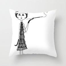 Her new cloche hat Throw Pillow