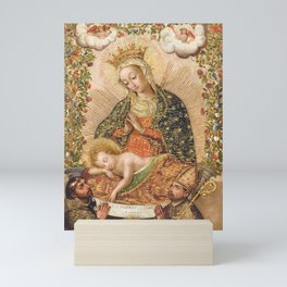 The Virgin Adoring the Christ Child with Two Saints Mini Art Print