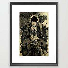 Louder than Love (Black & White) Framed Art Print