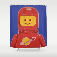 spaceman Shower Curtains featuring Spaceman 1983 by Nick Wesley