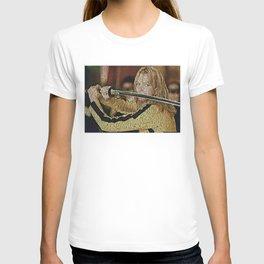 Text Portrait of Beatrix Kiddo with full script of Kill Bill T-shirt
