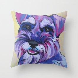 Schnauzer Pop Art Pet Portrait Throw Pillow