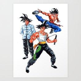 goku lee the last dragon Art Print