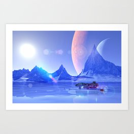 Exploring an Ice Planet Art Print