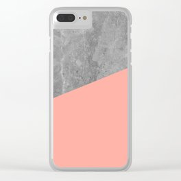 Simply Concrete Dogwood Pink Clear iPhone Case