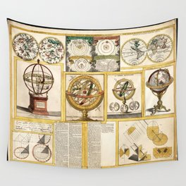 Collection of Astronomical Instruments, Charts and Maps (1769) Wall Tapestry