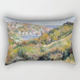 """Auguste Renoir - """"Hills around the Bay of Moulin Huet"""" Rectangular Pillow"""