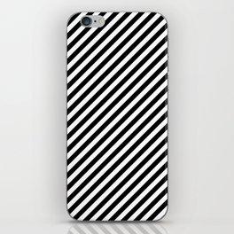 Classic Stripes Black + White iPhone Skin