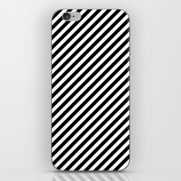Classic Stripes Black + White iPhone Skin
