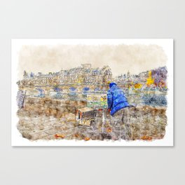 Autumn Paris Canvas Print