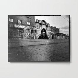 'Across the tracks' Metal Print