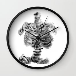 Monoprint Skeleton 2 Wall Clock