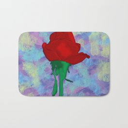 Painted Rose Bath Mat
