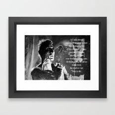 Like tears in rain - black - quote Framed Art Print