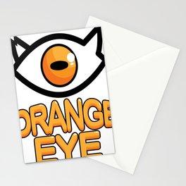 Cartoon character orange eyes Stationery Cards