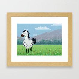 Spotty Horse Framed Art Print
