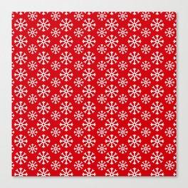 Winter Wonderland Snowflake Christmas Pattern Canvas Print