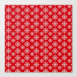 Winter Wonderland Snowflake Christmas Pattern Canvas Print
