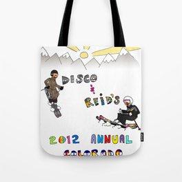 Disco & Reid's 2012 Annual CO ski adventure Tote Bag