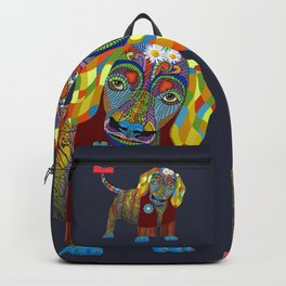 Yellow Mellow Dachshund Backpack