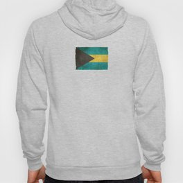 Old and Worn Distressed Vintage Flag of Bahamas Hoody