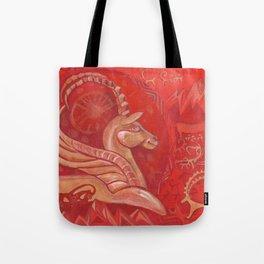 Golden argali Tote Bag