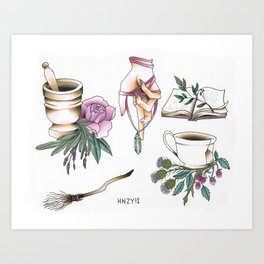Witchy Accessories Art Print