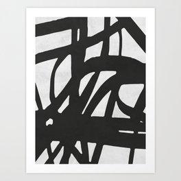 Black Expressionism I Art Print