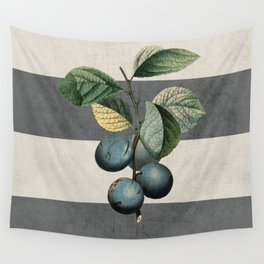 botanical stripes - plums Wall Tapestry